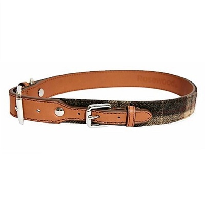 Rosewood Tweed Check Collar