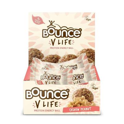 Bounce V Life Vegan Cashew & Peanut Protein Energy Balls - Pack of 12