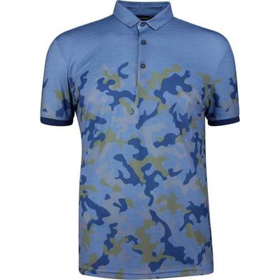Galvin Green EDGE Golf Shirt Kommendor Camo Blue 2019