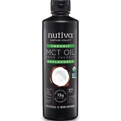Nutiva Organic 93% MCT Oil 473ml