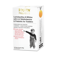 Lactobacillus & Bifidus with A-Z Multivitamins & Prebiotic for Toddlers 60g