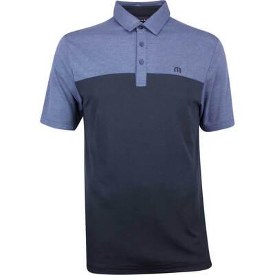 TravisMathew Golf Shirt Big Mike Polo Vintage Indigo SS19