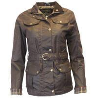 Walker & Hawkes Ladies' Brown Belted Wax Jacket - 8