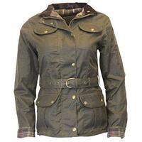 Walker & Hawkes Ladies' Olive Belted Wax Jacket - 8