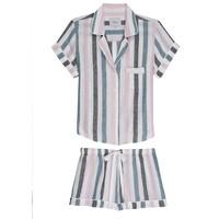 Darcie Short Sleeve Pyjama Set - Watermelon Stripe