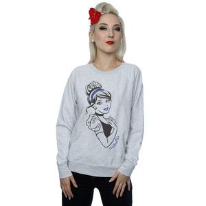 disney princess women's cinderella glitter sweatshirt