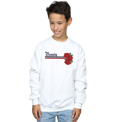 disney princess boys beauty and the beast belle stripes and roses sweatshirt