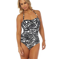 Seaspray 23-2063 SeaSpray Palm Noir Classic Bandeau Swimsuit 23-2063 Black/White 23-2063 Black/White