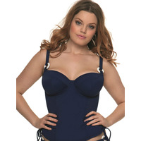 Curvy Kate Plain Sailing Tankini Top Ink