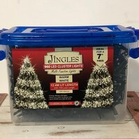 960 Multi Function LED Warm White Cluster Christmas Lights by Jingles