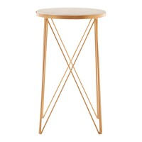 Fifty Five South &pipe; Shalimar Round Side Table White Marble
