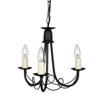 Elstead Lighting &pipe; Minster 3 Light Chandelier - Black