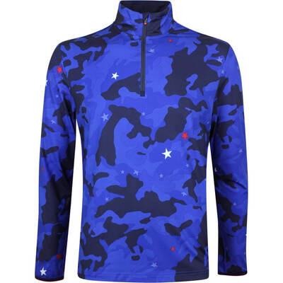 Justin Thomas POLO Golf Pullover Print Tech Jersey Star Camo SS19