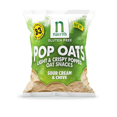 Nairn's Gluten Free Sour Cream & Chive Pop Oats - Pack of 7