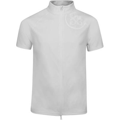 GFORE Golf Jacket Short Sleeve Mid FZ Snow AW19