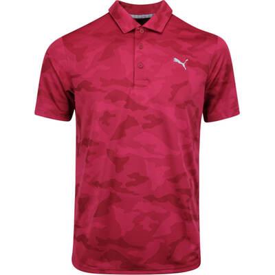 PUMA Golf Shirt Alterknit Camo Rhubarb AW19