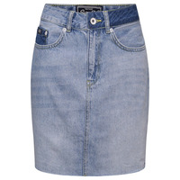 SUPERDRY DENIM MINI SKIRT - MALDIVE TIDE BLUE - 14