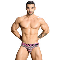 Andrew Christian Almost Naked Physical Stripe Cotton Brief