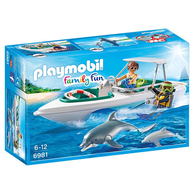 Playmobil Diving Trip With Floating Speedboat