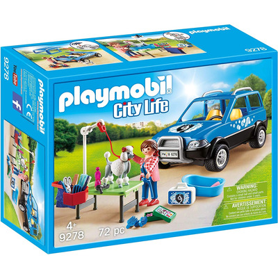 Playmobil Mobile Pet Groomer With Removeable Roof