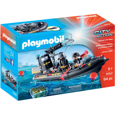 Playmobil SWAT Boat With Hook Cannon