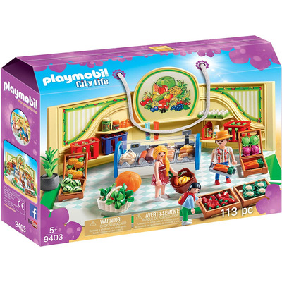 Playmobil Grocery Shop With Fridge Counter