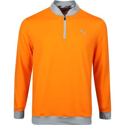 PUMA Golf Pullover Rotation Stealth QZ Vibrant Orange AW19