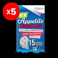 FORZA Appetite Suppressant 15 Capsules - Bundle of 5