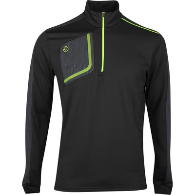Galvin Green Golf Pullover Dwight Insula Black Lime SS20