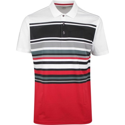 Galvin Green Golf Shirt Miguel White Red SS20