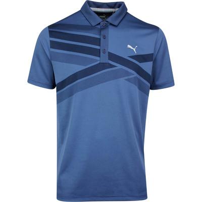 PUMA Golf Shirt Alterknit Texture Polo Peacoat SS20