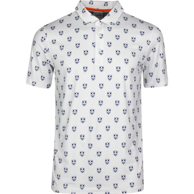 PUMA Golf Shirt Skull X Print Polo White LE SS20