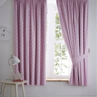 Pale Pink, Grey Star Blackout Curtains 72s