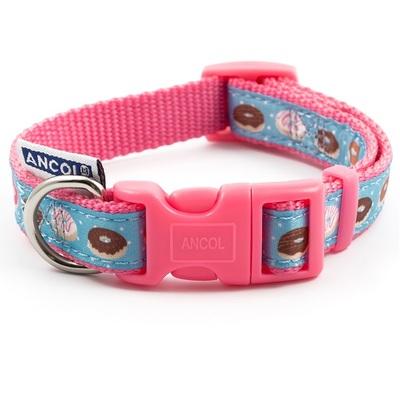 Ancol Pink Donut Adjustable Dog Collar