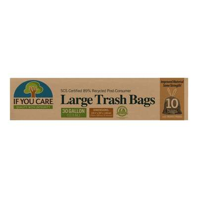If You Care 89% Recycled 30 Gallon Trash Bags - 10 Pack