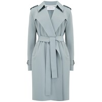 Soft Trench Coat - Powder Blue