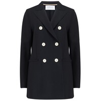 Long D.B Blazer - Black