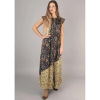 Nova Printed Maxi Dress - Navy