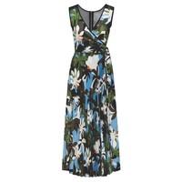 Tropical Long Pleated Dress - Jungle