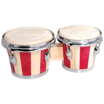 Banded Red Bongo Set 6.5