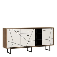 Furniture To Go &pipe; Brolo 3 Door 1 Drawer Wide Sideboard