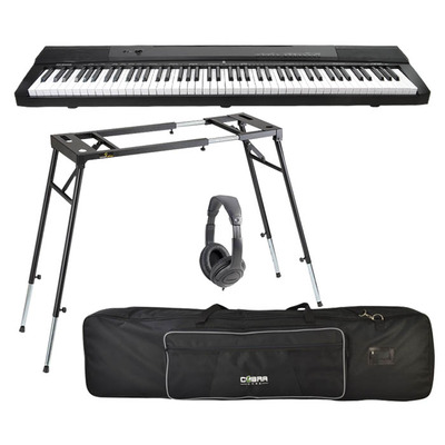 88 Key Touch Sensitive Electronic Keyboard Set with Bag, Stand & Headphones