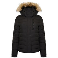 Classic Faux Fur Fuji Jacket - Black - 12
