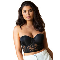 Pour Moi Make A Scene Padded Lace Bustier Bra