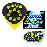 Dava 6 Guitar Pick Pack - Jazz Grip Nylon