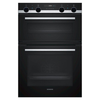 Siemens iQ500 MB535A0S0B Double Built In Electric Oven, Black