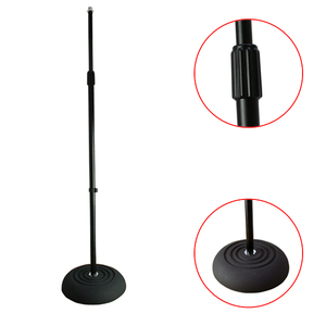 Tiger Microphone Stand With Heavy Round Base Black