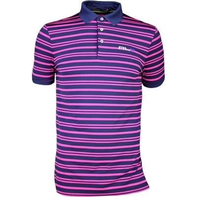 RLX Golf Shirt YD Stripe Airflow Madison Pink SS16
