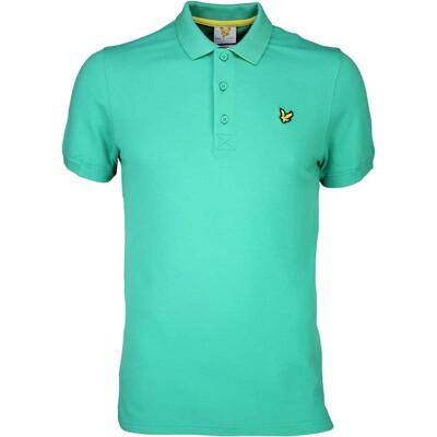 Lyle Scott Golf Shirt 8211 Kelso Tech Pique Thistle Green SS16