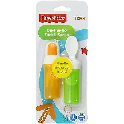 Fisher Price On The Go Fork And Spoon Set, Neutral